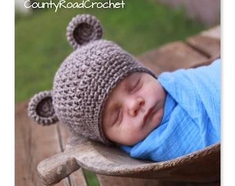 397331d3b21 Baby Bear Hat - Bear Photo Prop - Newborn Bear Beanie - Toddler - Kid -  Child - Winter Hats - Girl Bear - Boy Bear - Baby Gifts - Pictures