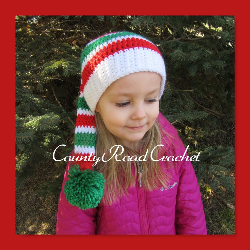 cf70d013c4f Crochet Christmas Elf Hat Kids Elf Beanie Baby Christmas Hat