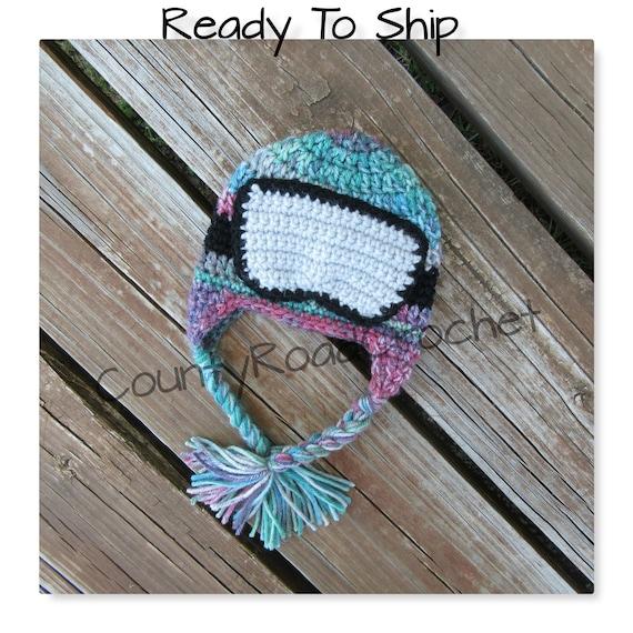 Ski Goggles Hat Baby Ski Hat Snowboard Baby Hat Newborn Photo  7e8abf05e7d