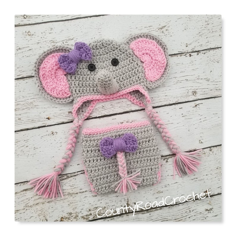 Ravelry: Elephant Hat and Diaper Cover for Boy or Girl pattern by ... | 794x794