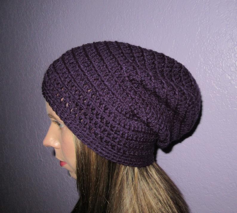 c283cba774d Crochet Slouchy Hat For Women Girls Slouchy Beanie Girl Winter