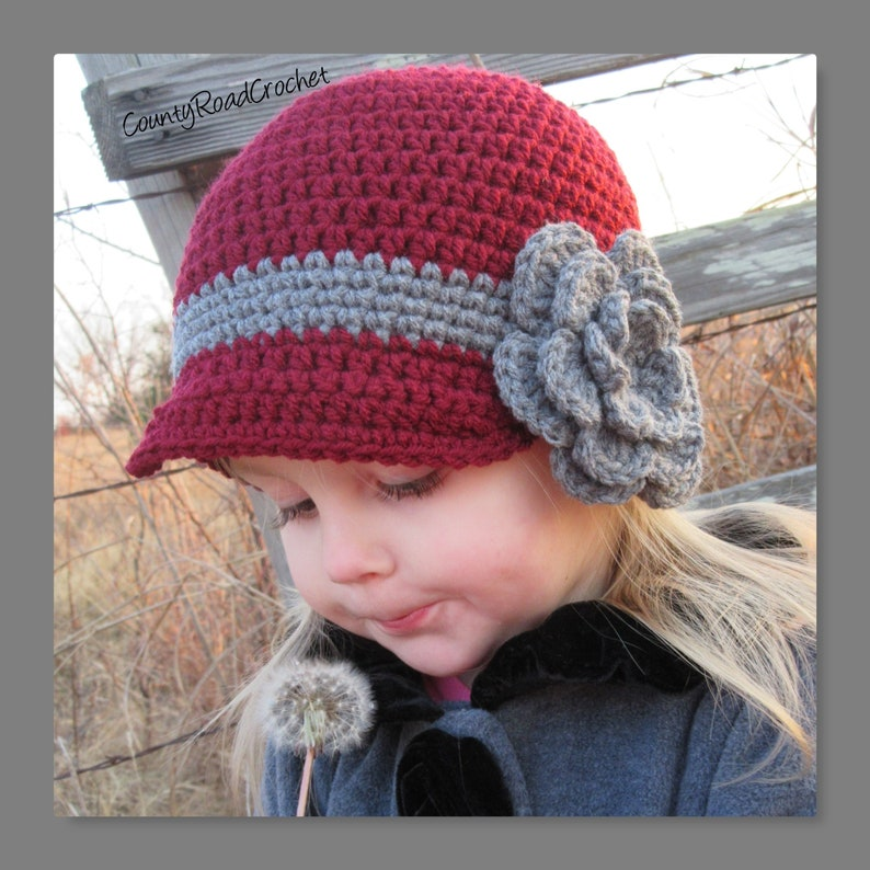 Crochet Girls Winter Hat Flower Hat Little Girl Gifts Girl  2fd9c4dd92bb