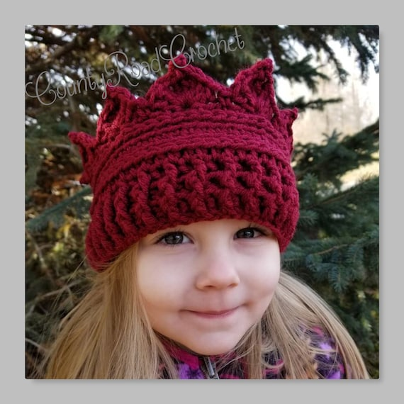 Tiara Baby Crown Christmas and Birthday Gift Idea Crown Wool Headband for Girl Earmuff