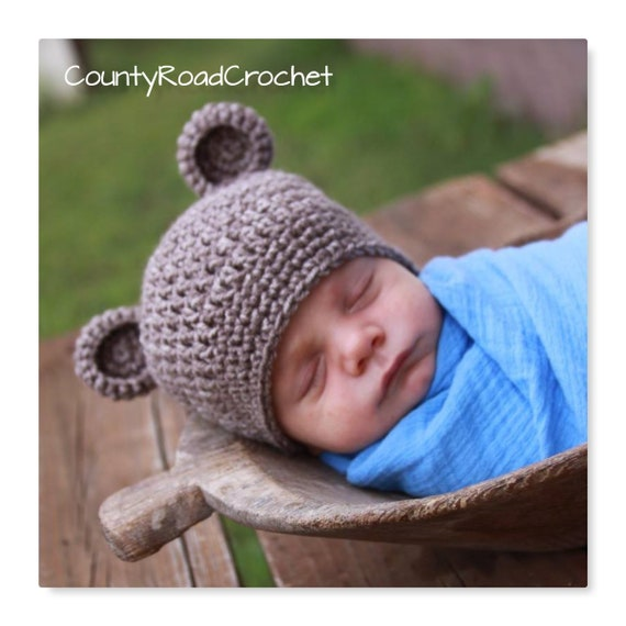 Baby Bear Hat Bear Photo Prop Newborn Bear Beanie  5f0c2f42a6c