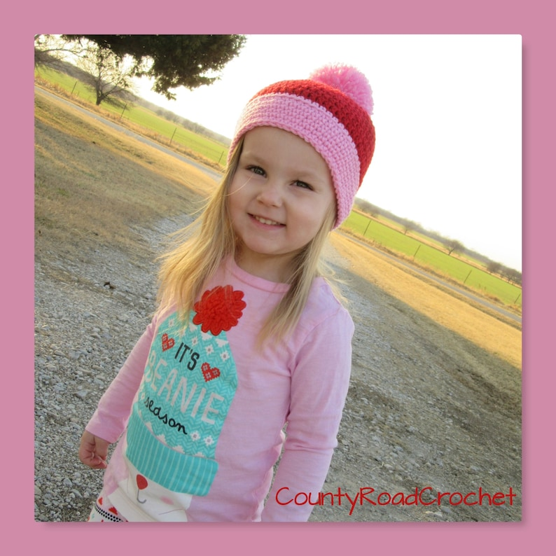 9c933ee1fe1 Crochet Pom Pom Beanie Baby Toddler Kid Hat Newborn Girl Photo