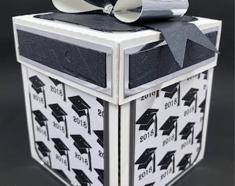 Graduation gift card box
