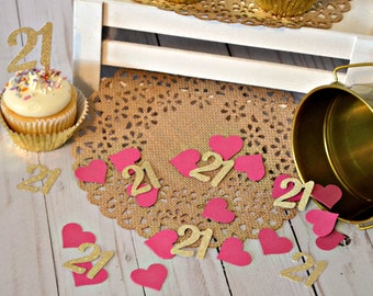 21st Birthday Confetti Glitter Gold 21 Party Decorations Decor Ideas