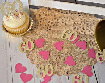 60th Birthday Confetti Anniversary 60 Party Decorations Decor Ideas