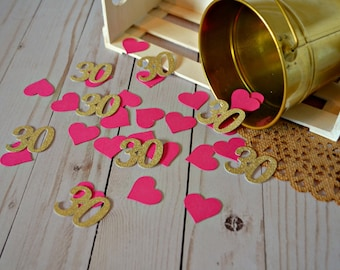 30th Birthday Confetti Glitter Gold 30 Party Decorations Ideas