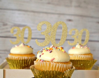 30th Birthday Cupcake Toppers 30 Party Decorations Thirty Dirty Flirty Ideas
