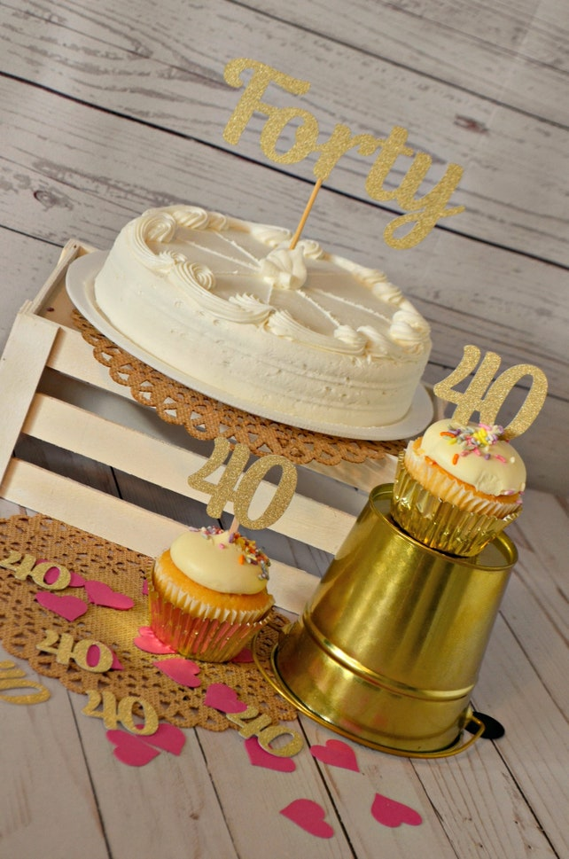 Forty Cake Topper 40th Birthday Ideas Anniversary