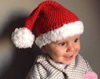 2bf1d1b3a86 BABY Santa Hat Father Christmas Hat Christmas Costume Baby Toddler Child  Adult Matching