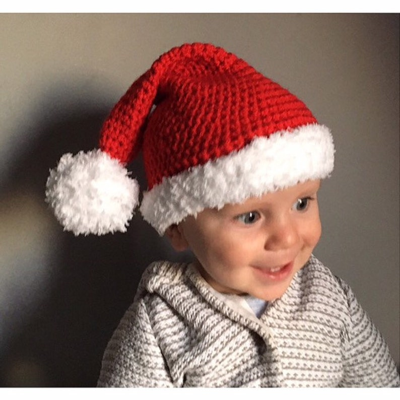 19c197750c2a0 TODDLER Santa Hat Christmas Hat Baby Tottler Child Teen Teenager Adult  Father Christmas Hat