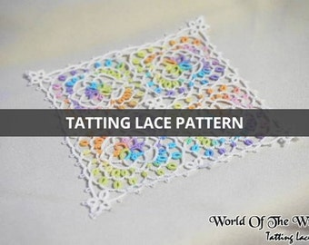 Tatting Lace Pattern:) Square Flower/Witch_JiYoung(까칠한지영씨)