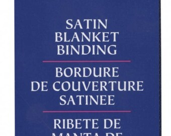 Navy Satin Binding by Wright Co, Wrights Satin Binding, Blanket Binding, Wrights Satin Binding