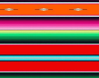Red Fiesta Stripe Fabric from the Fiesta Collection by Elizabeth's Studio, Choose Your Cut, Serape, Sombrero