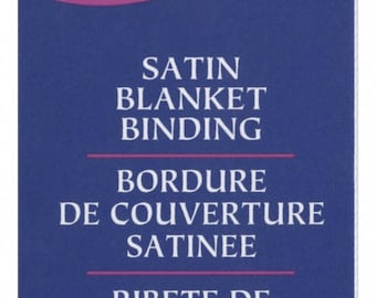 White Satin Binding by Wright Co, Wrights Satin Binding, Blanket Binding, Wrights Satin Binding