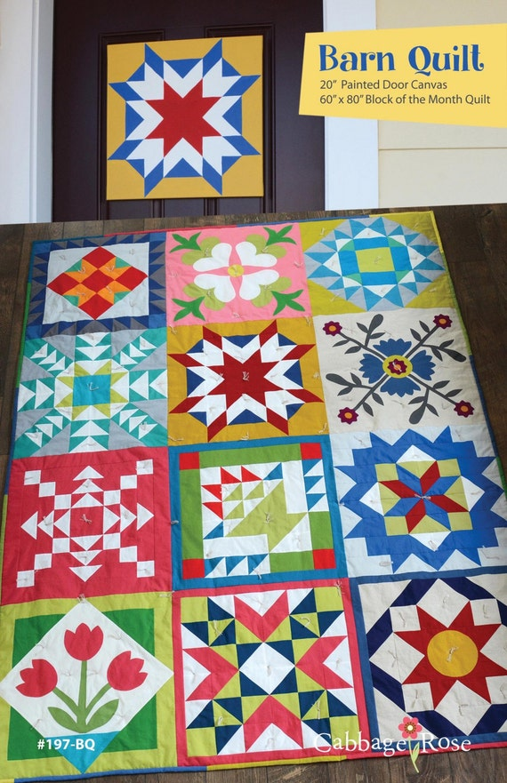 Barn Quilt Pattern By Cabbage Rose Quilts Paint Your Own Barn