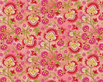 SALE - Pink Jacobean Vine from the Jardinier Collection by Jennifer Brinley for Studio E Fabrics, Floral