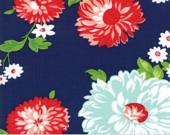 Floral in Navy from The Good Life collection by Bonnie and Camille for Moda Fabrics, Choose the Cut, 55150 16