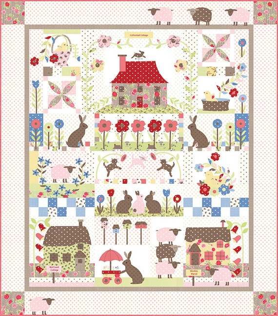 Cottontail Cottage Block Of The Month BOM Quilt Pattern BHD Etsy Gorgeous Block Of The Month Quilt Patterns