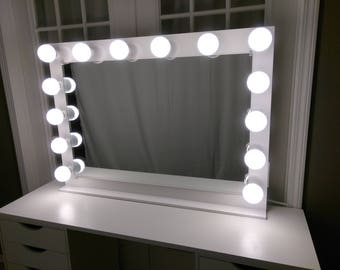 Vanity mirror etsy vanity mirror with lights dimmer 2plug outlet base aloadofball Images