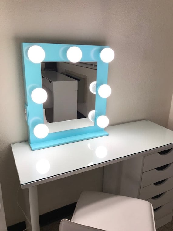 Mini Vanity Mirror With Lights Dimmer 2 Plug Outlet Etsy