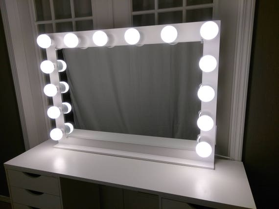 vanity mirror with lights dimmer 2 plug outlet base etsy. Black Bedroom Furniture Sets. Home Design Ideas