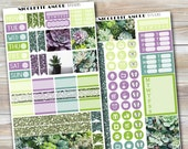 SUCCULENT HOBONICHI weeks stickers, hobo stickers, hobonichi stickers, photo hobo, sprinkles weekly kit, hobonichi weeks planner