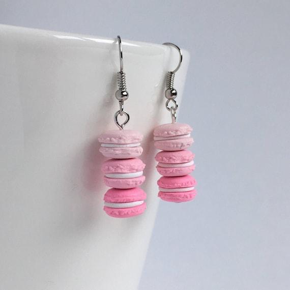 stud earrings pin Macaron lobe earrings