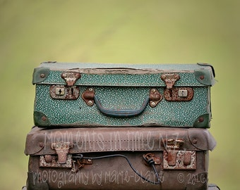 Vintage Suitcases Digital Background (newborn)