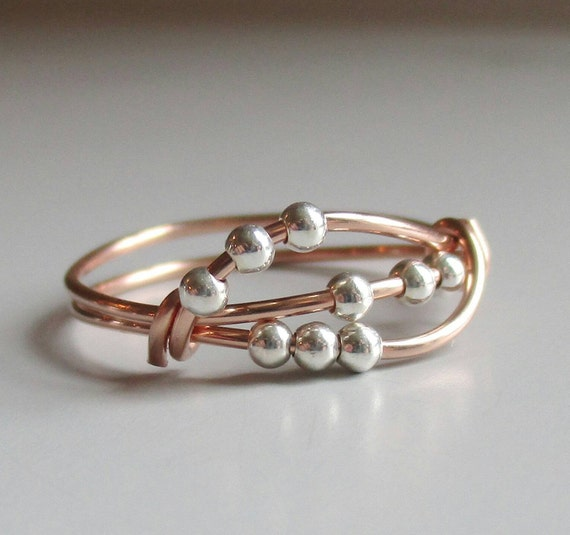 Uma Fidget Ring, Rose Gold Ring, Wire Wrapped Ring, Handmade Jewelry, Stacking Ring, Gift For Her by Etsy
