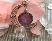 Handmade Silver Moon Dang...
