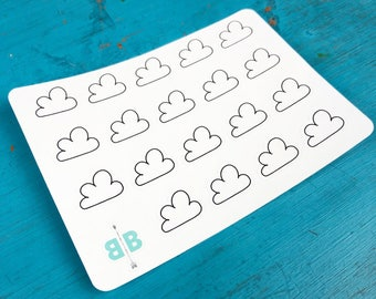Cloud Weather Stickers - Mini Sheet