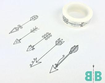 Boho Berry Hand-Drawn Arrow Washi Tape