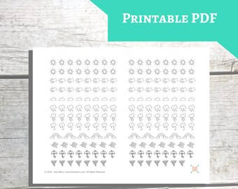 PRINTABLE Weather Icon Planner Stickers