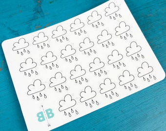 Rain Weather Stickers - Mini Sheet