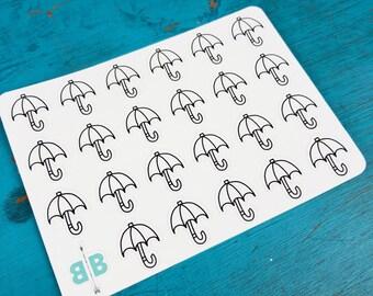 Umbrella Weather Stickers - Mini Sheet