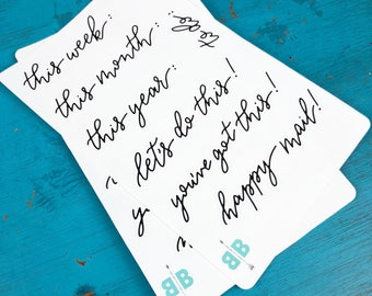 Planner Sayings Bounce Lettering Stickers