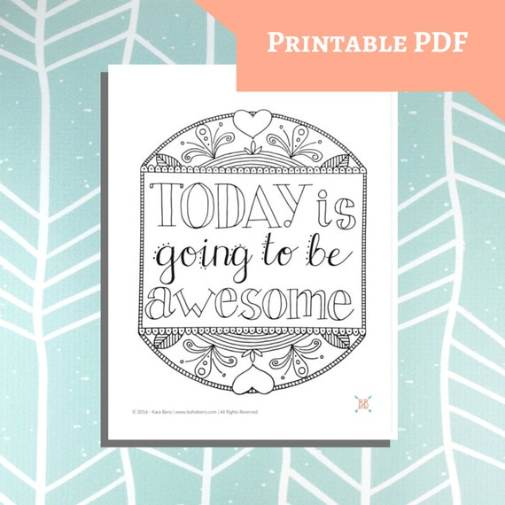 PRINTABLE Quote Coloring Page