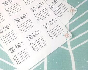 Mini To-Do List Stickers
