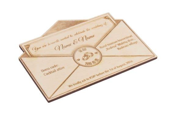 Holz Zu Speichern Das Datum 20st Hochzeitseinladungen Holz Etsy
