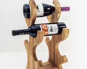 Wooden wine rack Wine holder Wood wine bottle holder Kitchen decor Kitchen accessories
