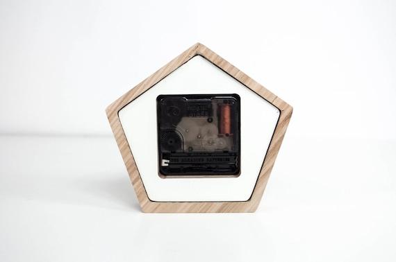 Bureau en bois horloge horloge mini en bois chêne horloge de