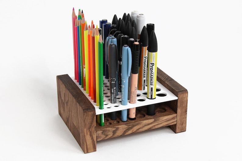 pen holder pencil holder desk accessories desk organizer etsy rh etsy com pen holder for desk set pen holder for desk target