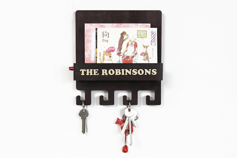 Entryway organizer Mail and key holder for wall Key holder for image 0