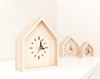 Desk Clock, Desk Decor, Wood Clock, Table Clock, Desk Clocks Gifts, Rustic clock, Desk Gift For Her, Desk Gift Wooden, Desk Decor Clock