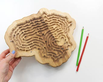 Busy Toddler Game, Labyrinth, Kids Busy Game, Busy Toddler Toy, Toddler Wooden Toy, Toddler Activity Game, Toddler Toy Wood, Educational Toy