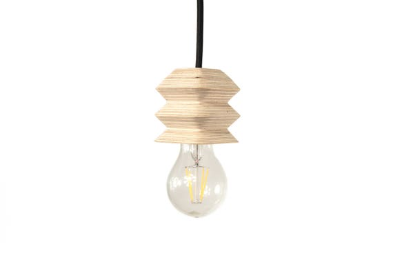 Plafoniere Per Forni A Legna : Lampada moderna legno ciondolo luce etsy