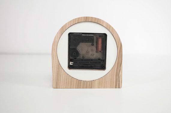 Bureau horloge bois horloge de bureau horloge en bois chêne